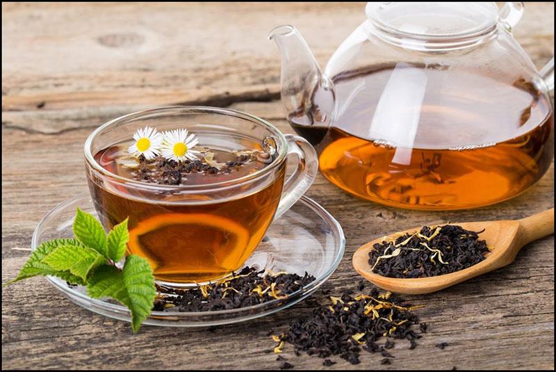 شاي النكهات المختلفة